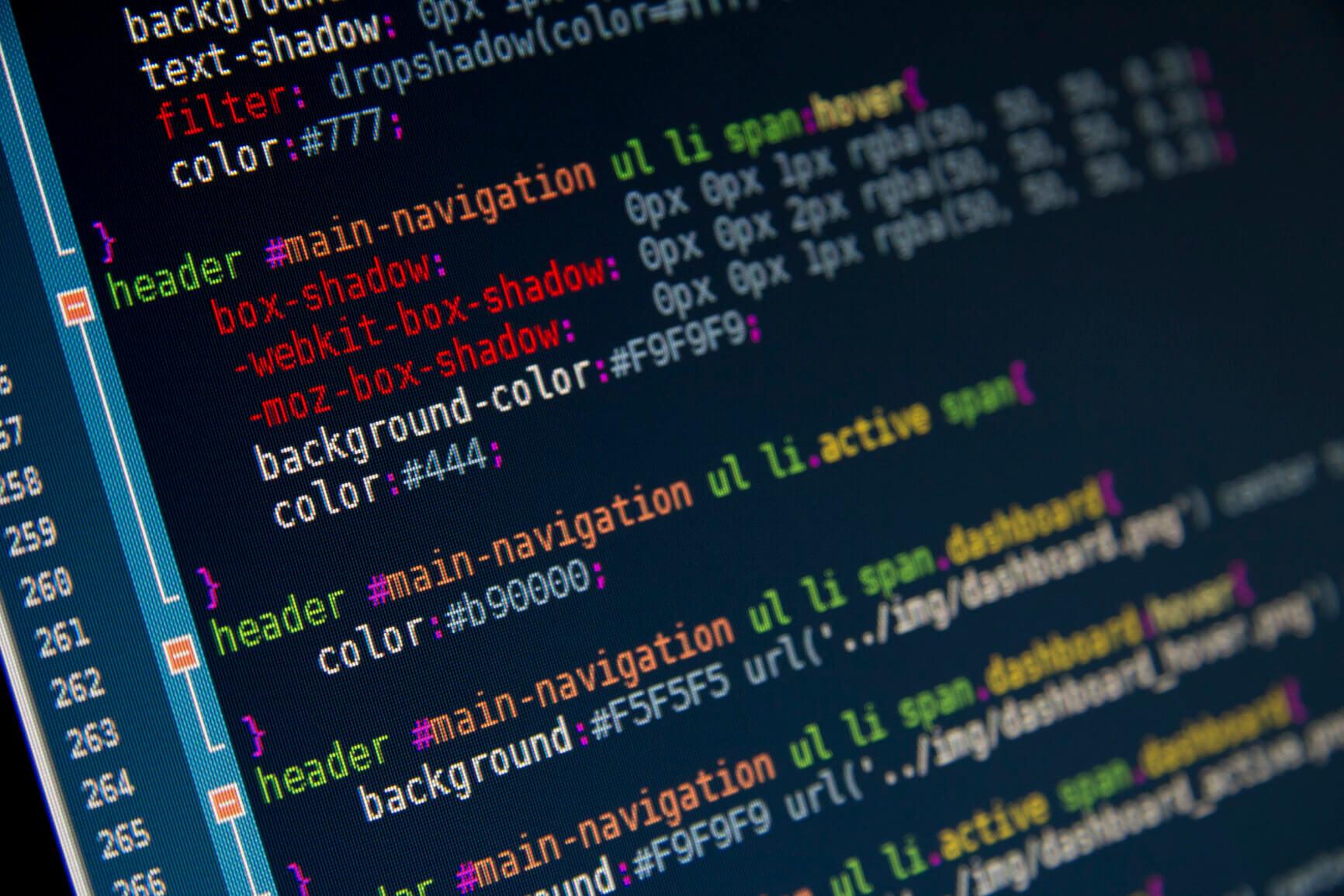 Code editor.