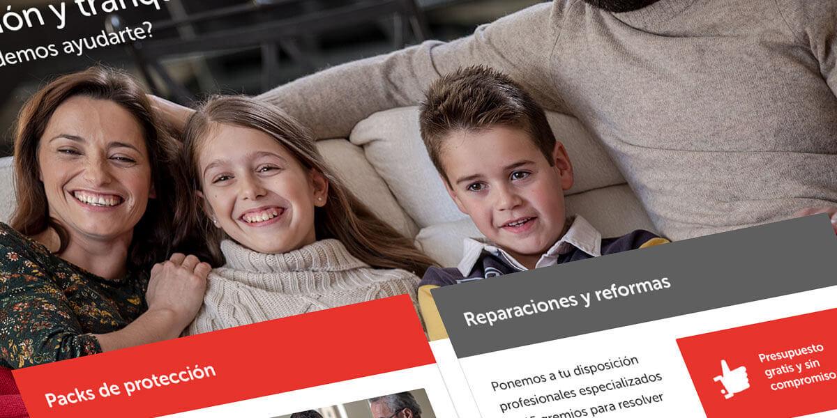 HomeServe Spain home page
